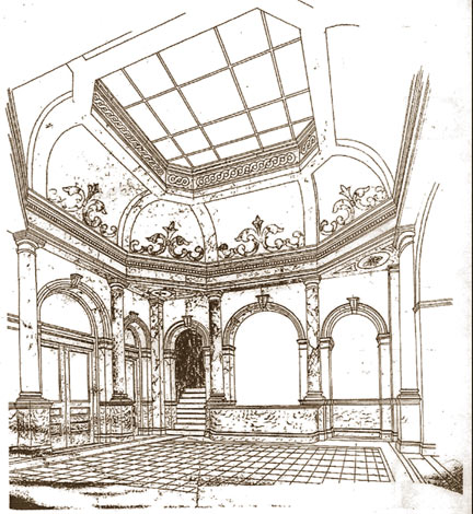 Carnegie_Bldg_Architect_Drawing_Rotunda