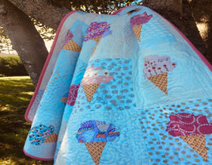 quilt with ice cream cone pattern